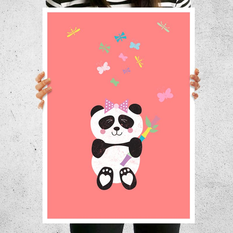 new baby girl panda nursery decoration baby gift for new born cuando