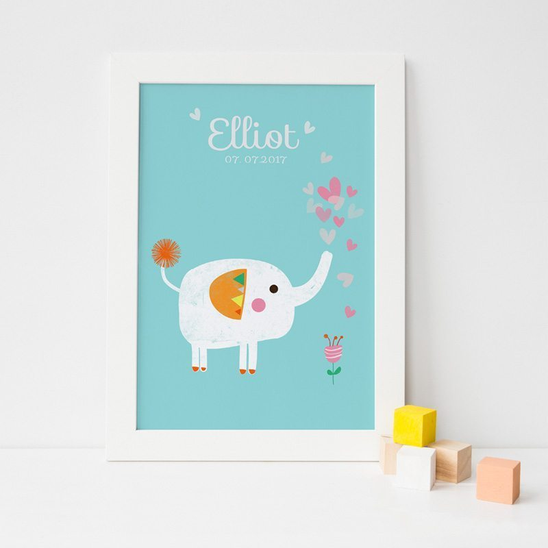 c630dff200f2 Personalised Baby Wall Art