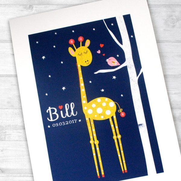 personalised nursery print