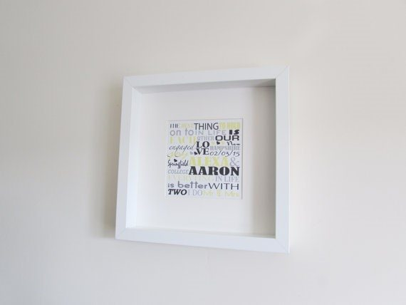 Framed Wedding/Anniversary Word Art