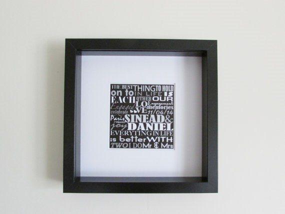 Wedding & Anniversary Framed Art Work, Personal Irish Made Gift ...