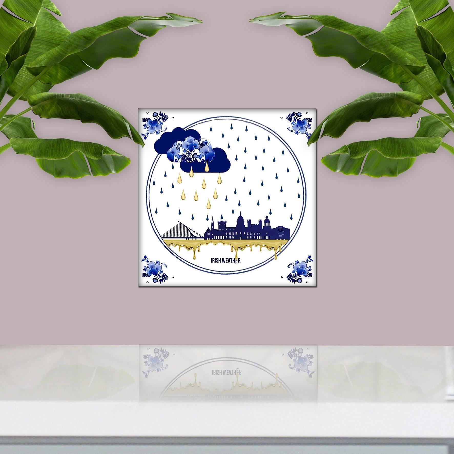 Irish Weather Tile Art, Wedding Or Birthday Gift, Gifts
