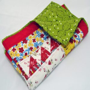 Hand-made patchwork quilt