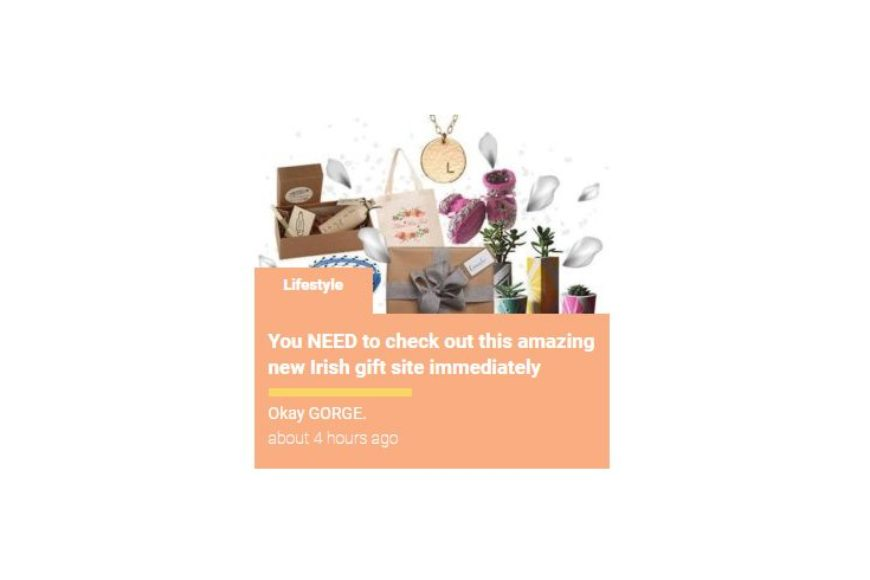 """Shemazing """"You NEED to check out this amazing new Irish gift site immedietely"""""""