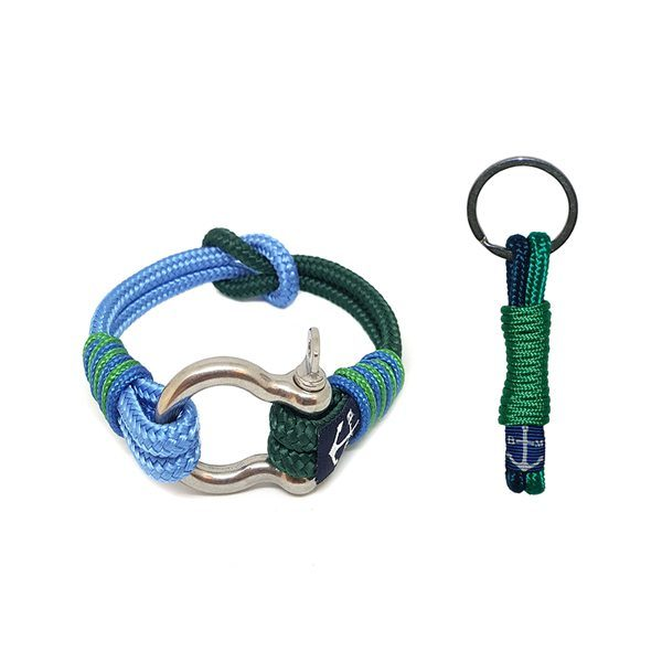 Blue and Green Reef Knot