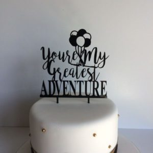 Greatest Adventure Wedding Cake Toppers