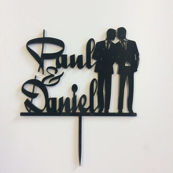 2 Males Personalised Cake Topper