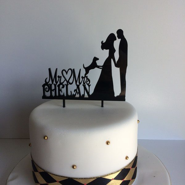 Personalised Mr and Mrs with dog