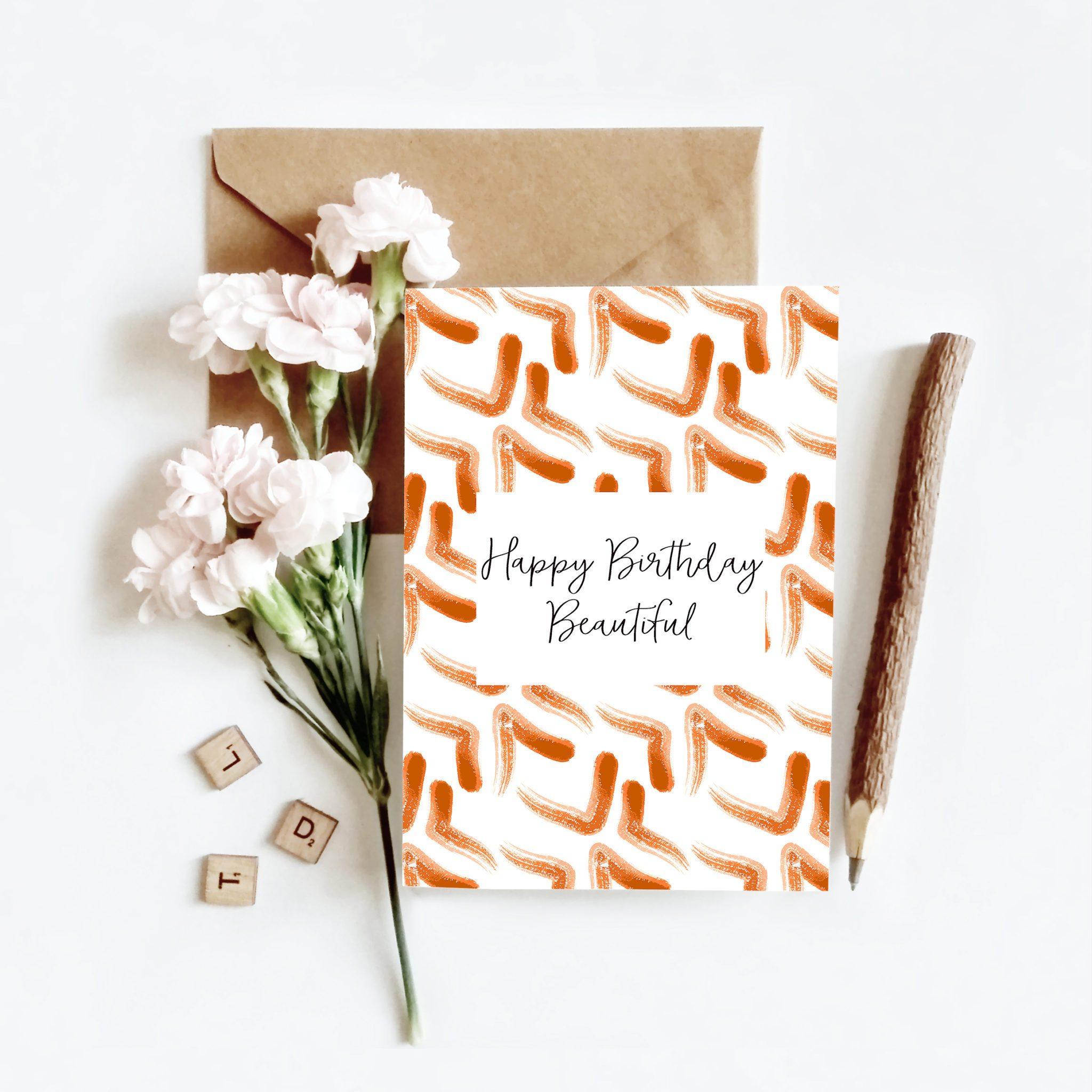 Happy Birthday Beautiful Birthday Card