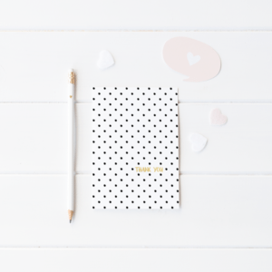 Polka Dot Thank You Card