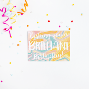 Wishing You A Brilliant Birthday Card