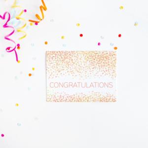 Congratulations Confetti Card