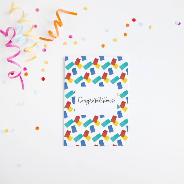 Colourful Congratulations Card