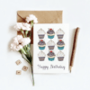cupcake happy birthday card