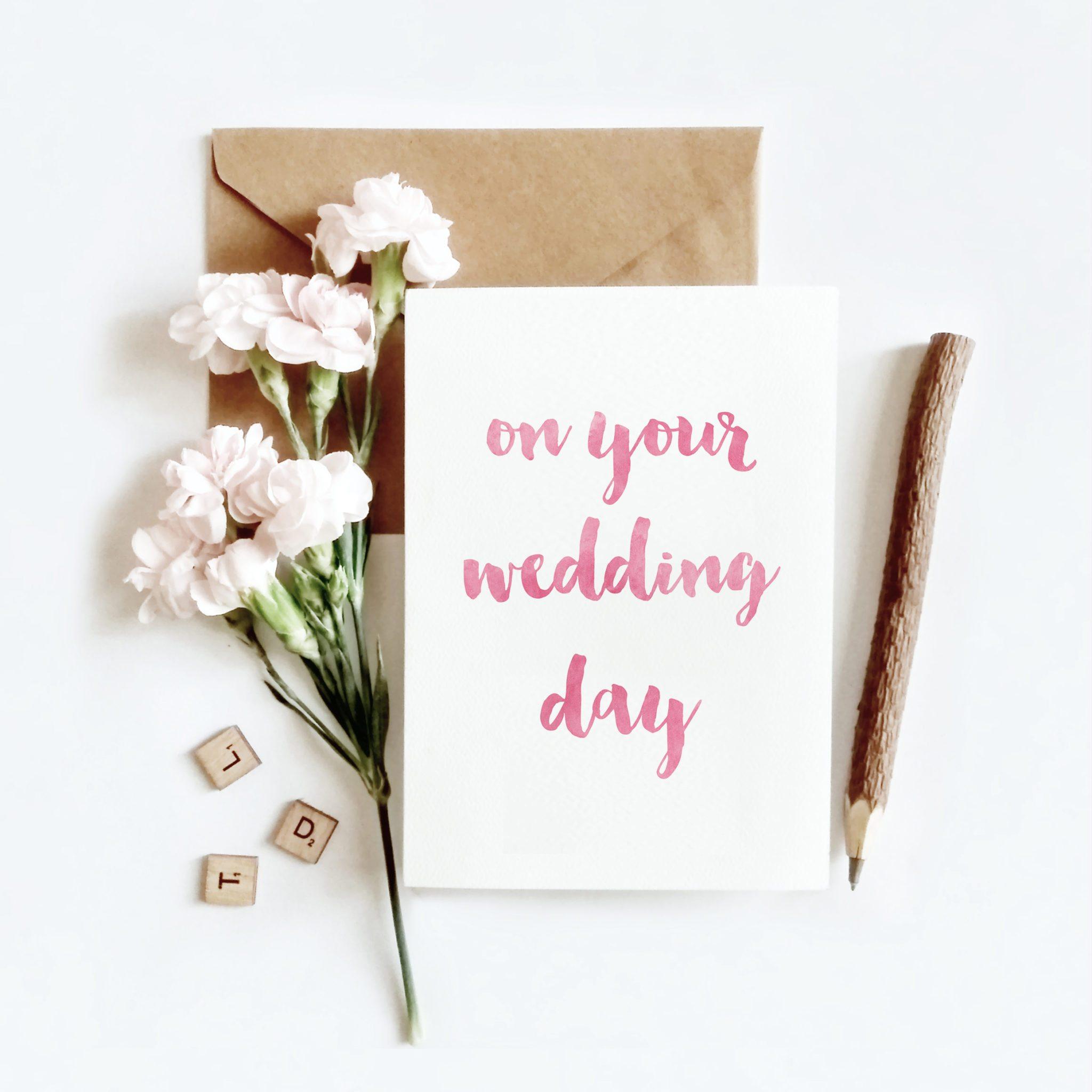 Wedding Day Card On Your Wedding Day Wedding Cards Gift Idea