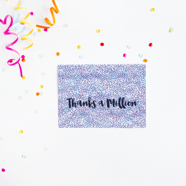 confetti thank you card designed made in ireland