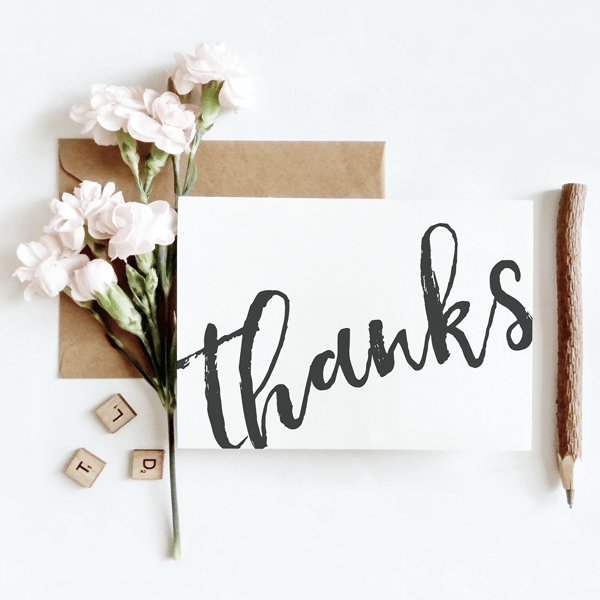 Wedding Gift Thank You Cards: Grey Calligraphy Thank You Cards, Thank You Gifts & Ideas