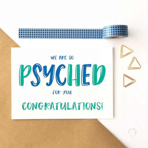 PHD Congratulations Card