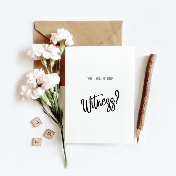 Wedding Witness Gifts: Wedding Card Designed & Made In