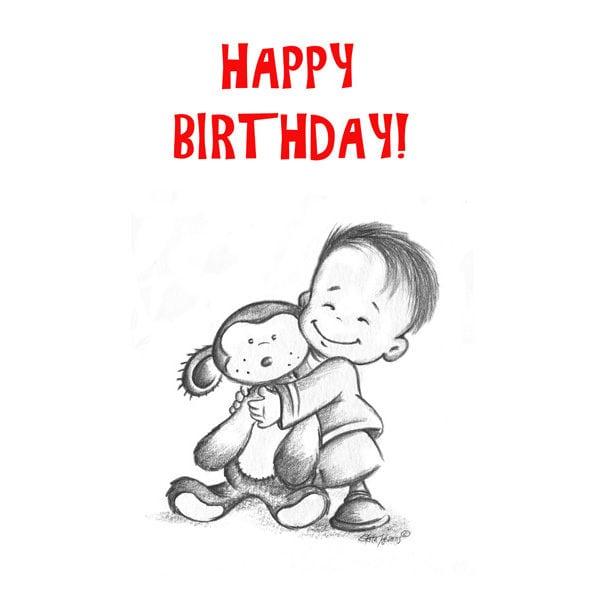 Little Boy Happy Birthday Card