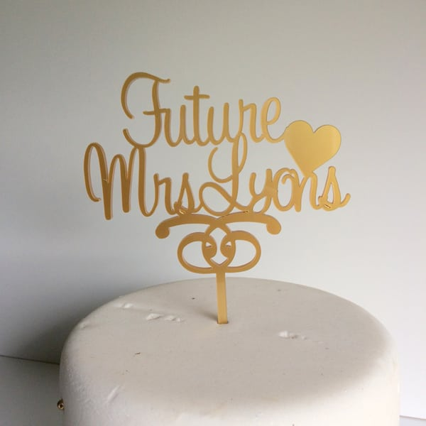 Hen Party Accessories Future Mrs Cake Topper Cuando