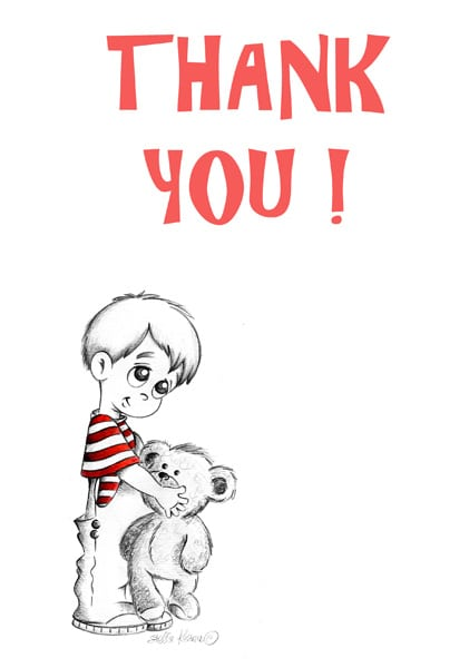 Children Thank You Cards Stunning Original Illustrations