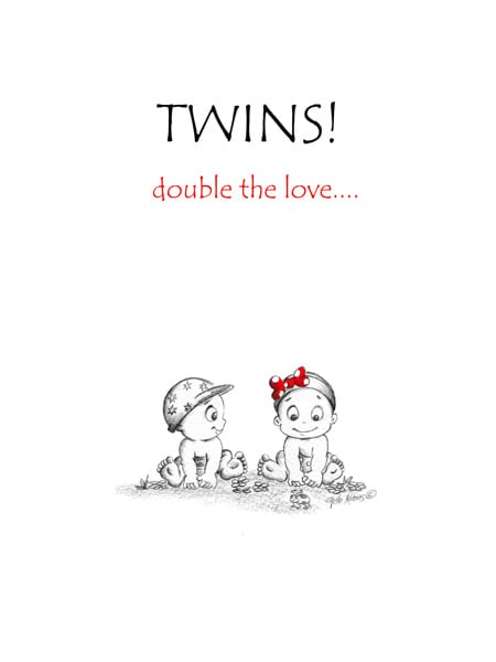 card for twins