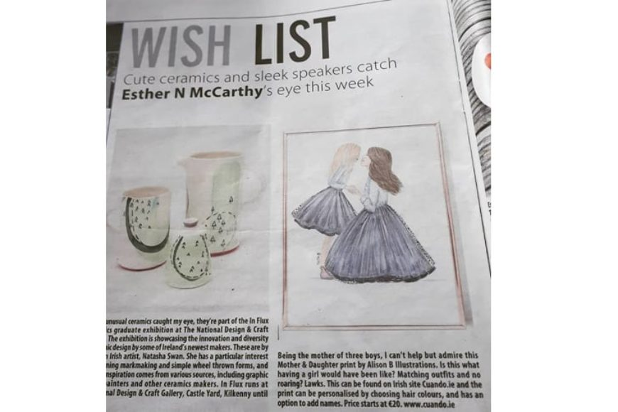 Irish Examiner 'Wish List' 14.07.18