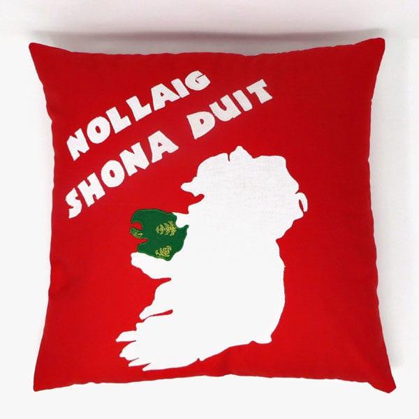 irish language christmas cushion