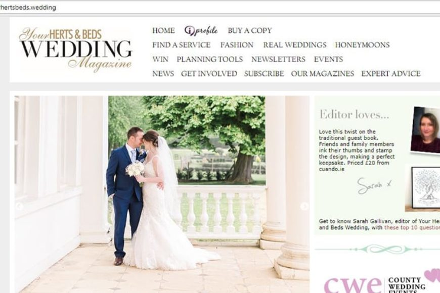 'Editor Loves' in Your Herts and Beds Wedding Magazine 03.07.18