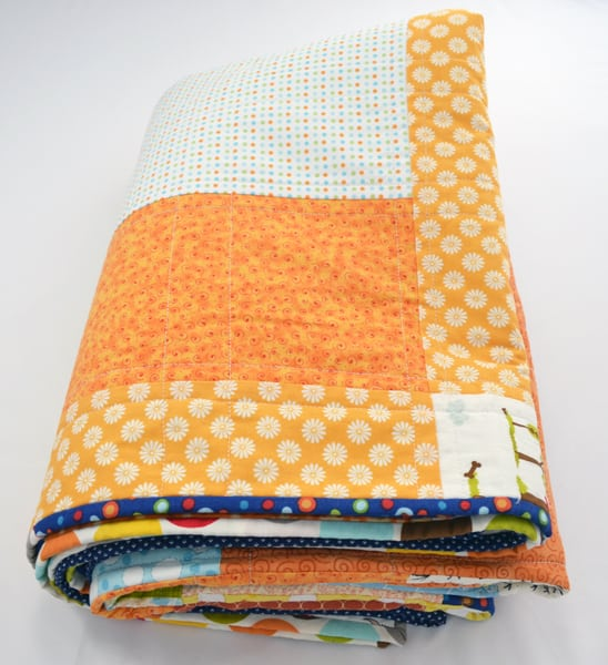 large patchwork quilt