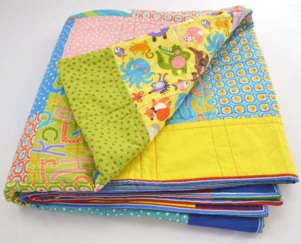 Multicoloured Patchwork Quilt