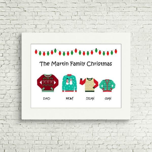 christmas family print