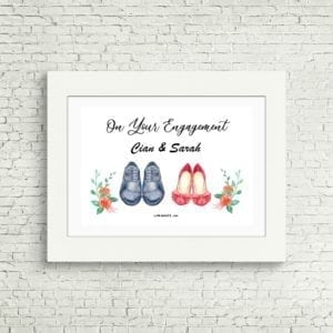 personalised engagement print