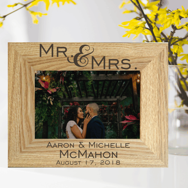 Engraved Wedding Frame Wedding Gift Anniversary Gift Gift Ideas