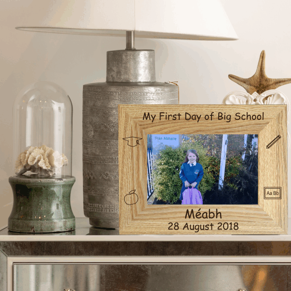 My First Day Of Big School Photo Frame Engraved Frame Kids Gift