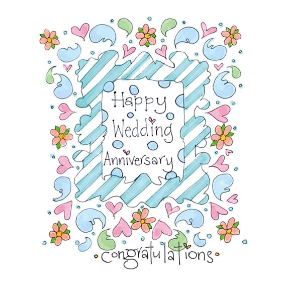Personalised Happy Wedding Anniversary Card