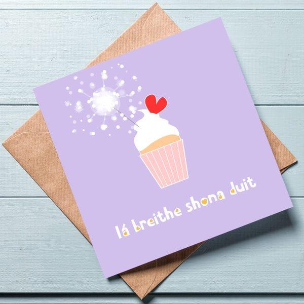 irish happy birthday card
