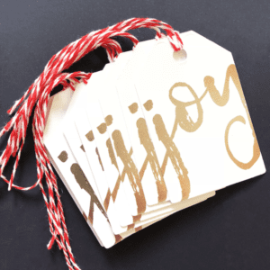 stylish christmas gift tags