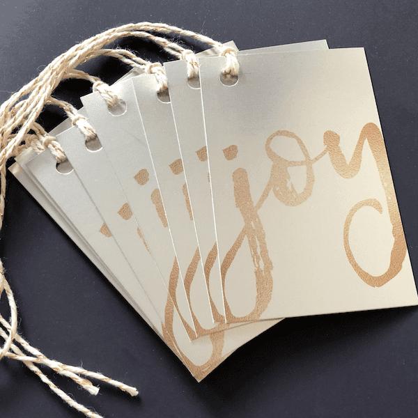 silver christmas gift tags