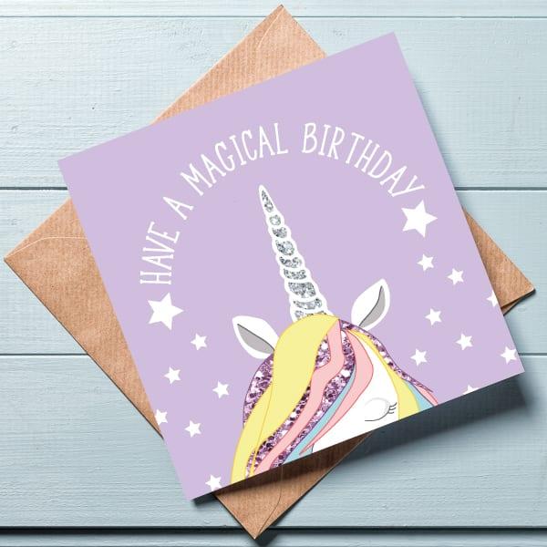 Unicorn Birthday Card Cards Greeting Online