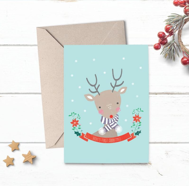 Baby S First Christmas Card Online Beautiful Christmas Greeting