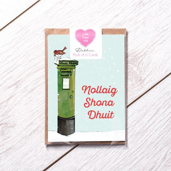 pack of irish language christmas cards