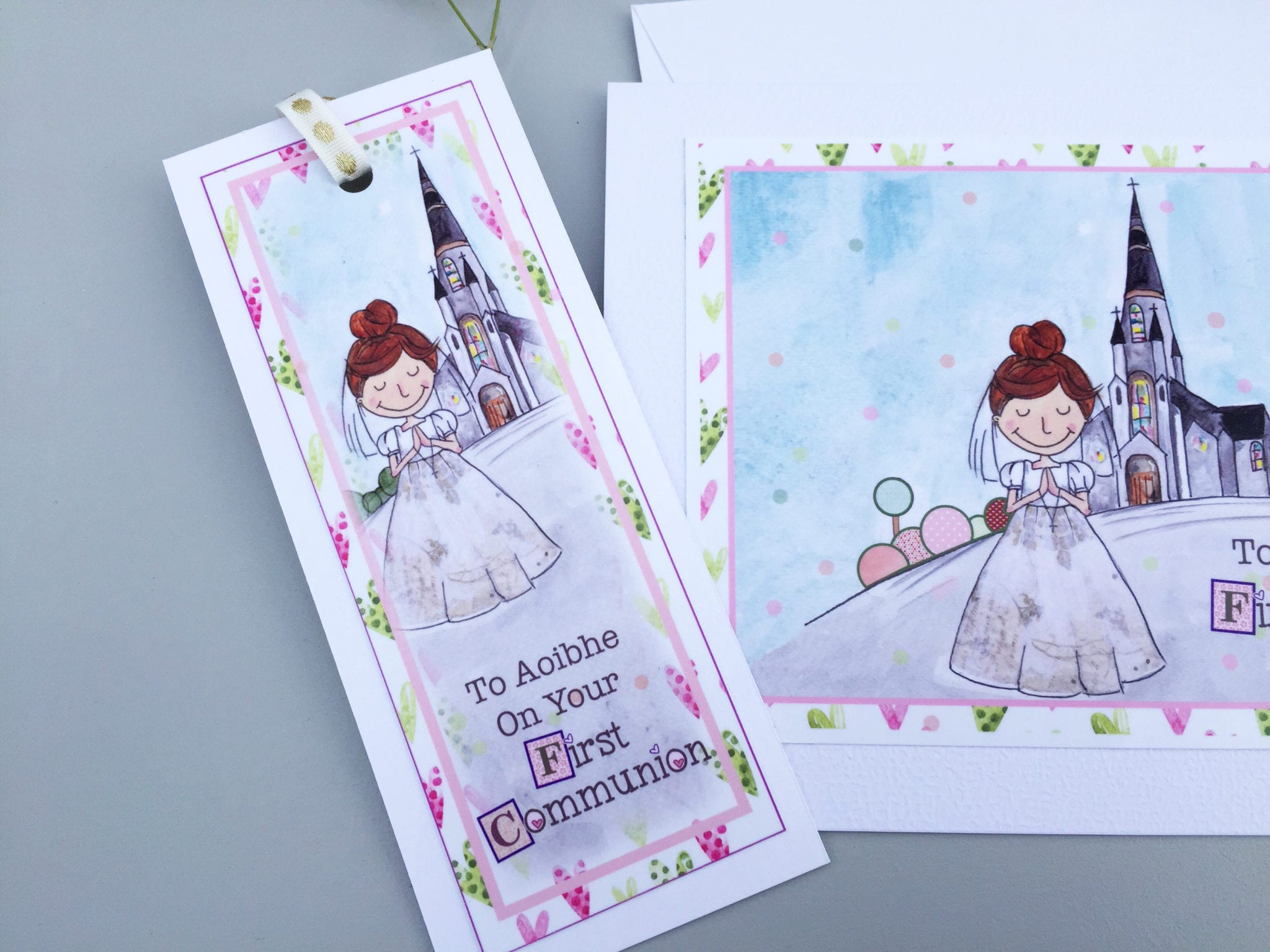 First Holy Communion Card Bookmark For Girls Boys