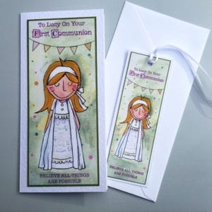 personalised confirmation cards