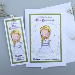 girls communion card