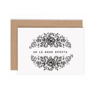 irish language wedding card