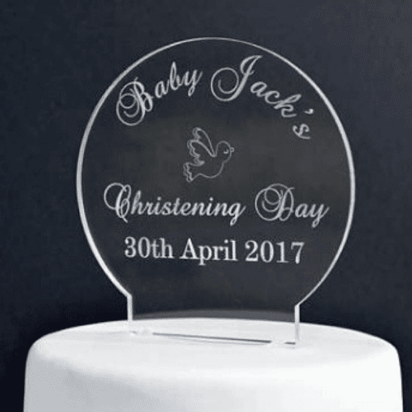 christening cake toppers