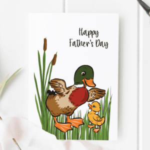 happy fathers day card from child
