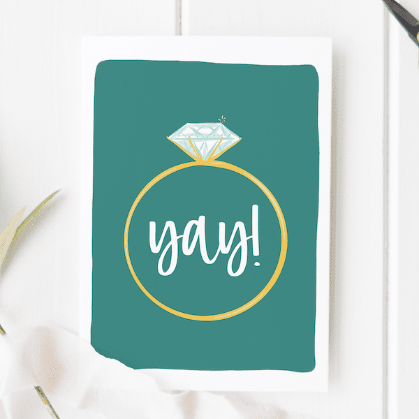 handcrafted engagement cards